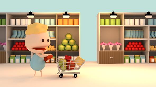 Image result for cartoon supermarket