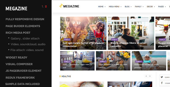 Megazine - Multi Blog WordPress Responsive Theme - News / Editorial Blog / Magazine