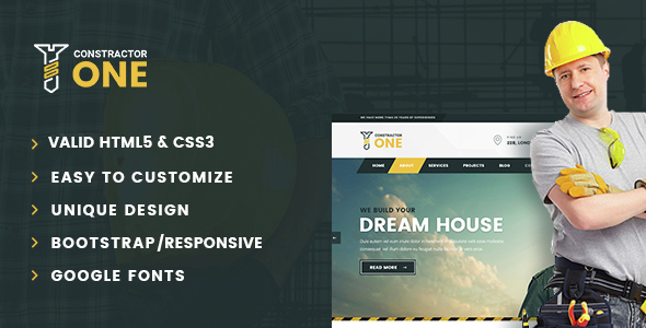 Constractor One-Construction & Home Renovation HTML5 Template