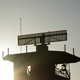 Airport Radar in Tower Gyrating at Sunset - VideoHive Item for Sale