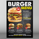 Burger Menu Psd Template
