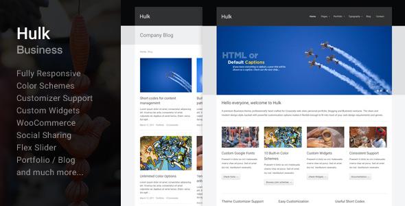 Free Download Hulk Business/Portfolio Wordpress Theme Nulled Latest Version