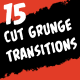 15 Cut Grunge Transitions - VideoHive Item for Sale