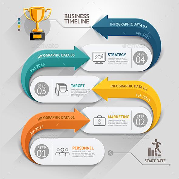 Modern Arrow Business Infographics Template.