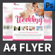 Wedding Photographer A4 Flyer Template - GraphicRiver Item for Sale