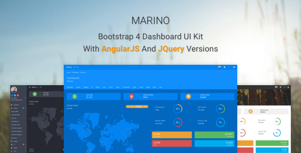 Marino – Bootstrap 4 Dashboard UI Kit