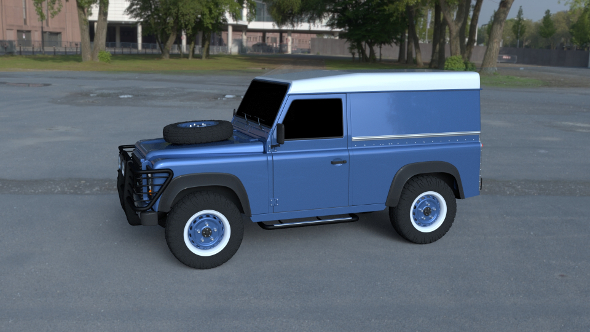 Land Rover Defender 90 Hard Top HDRI - 3DOcean Item for Sale