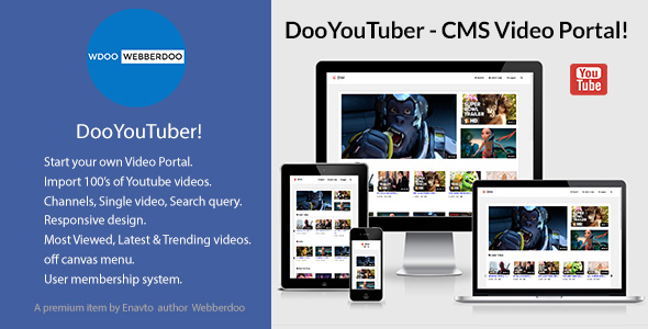 DooYouTuber - CMS Video Portal - CodeCanyon Item for Sale