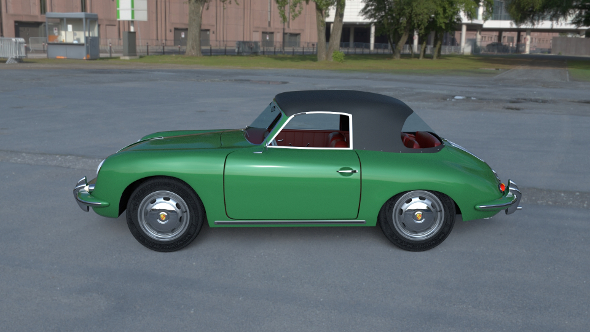 Porsche 356 Cabriolet HDRI - 3DOcean Item for Sale