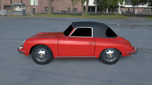 Porsche 356 Cabrio HDRI - 3DOcean Item for Sale