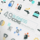 49 Modern Icons For Business And SEO - GraphicRiver Item for Sale