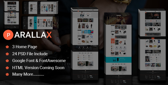 Prallax-Multipurpose eCommerce PSD Template