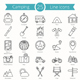 25 Camping Line Icons - GraphicRiver Item for Sale