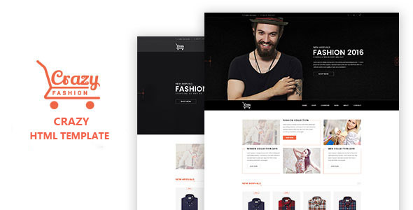 Crazy Fashion - eCommerce HTML5 template - Fashion Retail