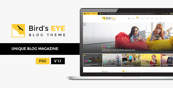 Birds Eye - Blog and Magazine Template - Personal PSD Templates