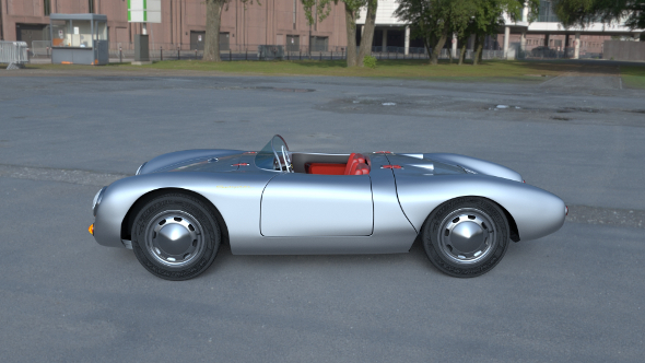 Porsche 550 Spyder HDRI - 3DOcean Item for Sale
