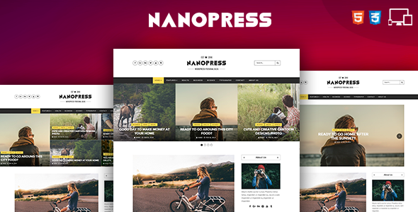 Nanopress - Responsive Personal Blog - Personal Site Templates