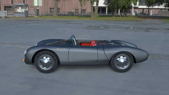 Porsche 550 Spyder gray HDRI - 3DOcean Item for Sale