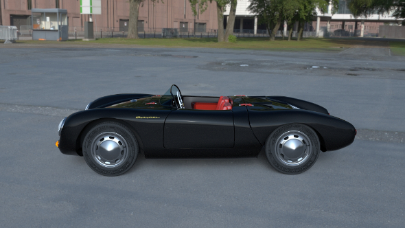 Porsche 550 Spyder black HDRI - 3DOcean Item for Sale