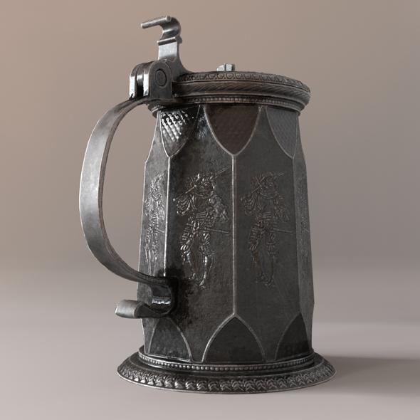 Beer mug 02 - 3DOcean Item for Sale