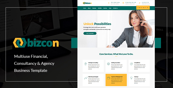 Bizcon | Responsive Multi-purpose HTML5 Template by zozothemes