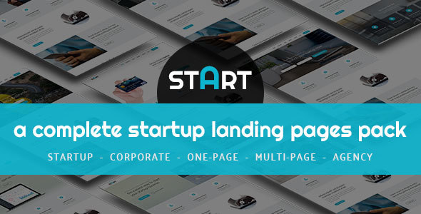 START - A Complete Startup Landing Pages Pack - Landing Pages Marketing