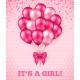 It's a Girl Baby Shower Background - GraphicRiver Item for Sale