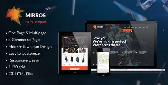 MIRROS – Multipurpose Responsive HTML Template