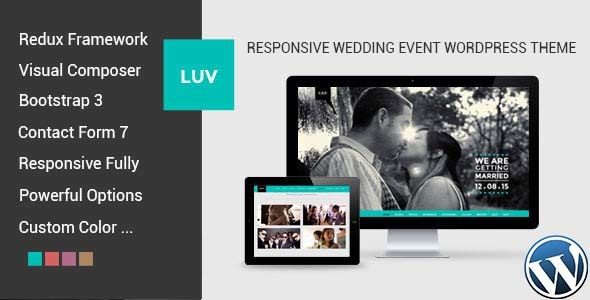 LUV - Responsive Wedding Event WordPress Theme - Wedding WordPress