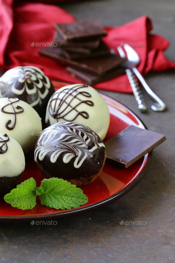Dessert Biscuit Balls Cakes - Stock Photo - Images