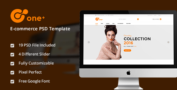 One+ Jewelry & Watch Fashion E-commerce PSD Template - Retail PSD Templates