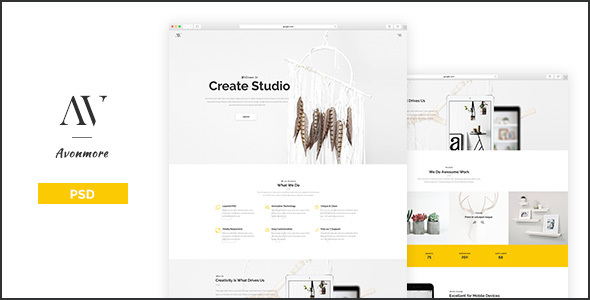Avonmore – Creative Portfolio / Blog PSD Template