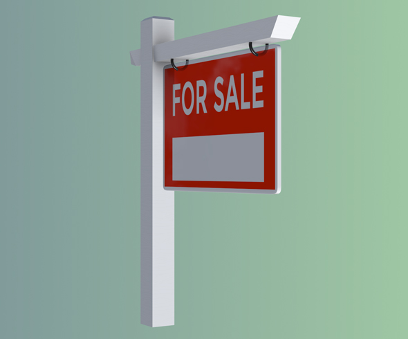 For Sale Sign - 3DOcean Item for Sale