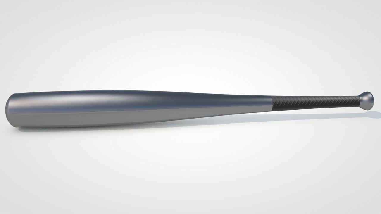Aluminum Baseball Bat By Myrrdin01 3docean