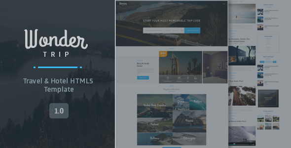 WonderTrip – Travel & Hotel Booking Template