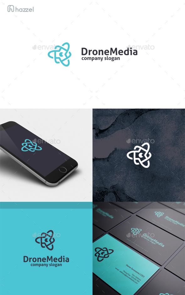 Drone Media Logo - Symbols Logo Templates