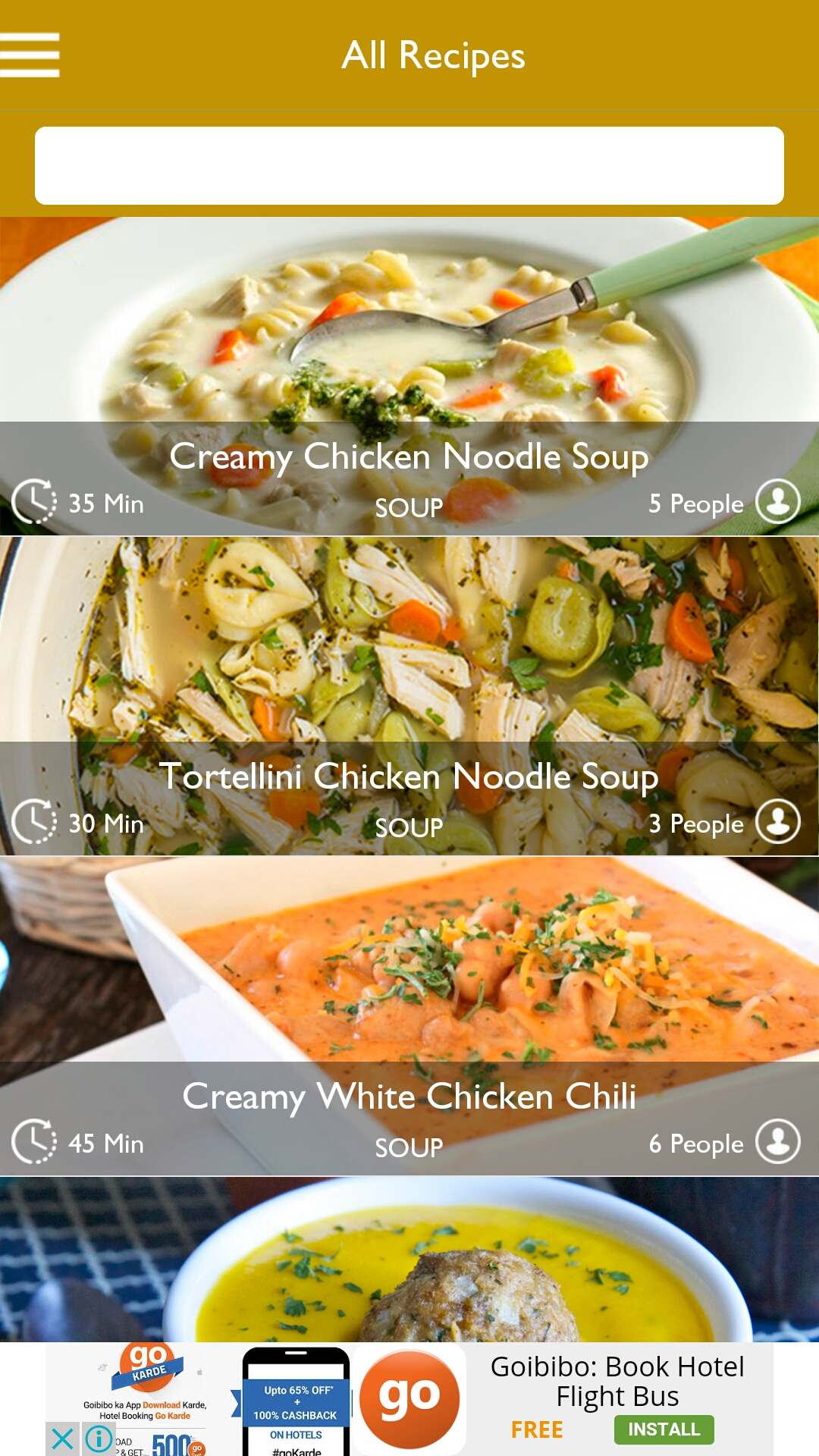 Multi purpose recipe template for android by expresstemplate multi purpose recipe template for android forumfinder Choice Image