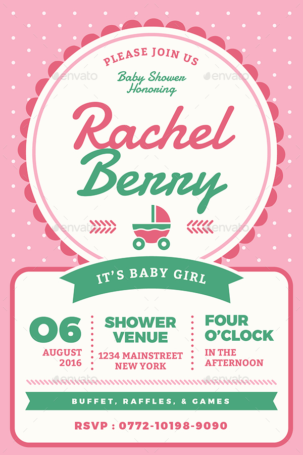 Baby Shower Invitation by vynetta | GraphicRiver