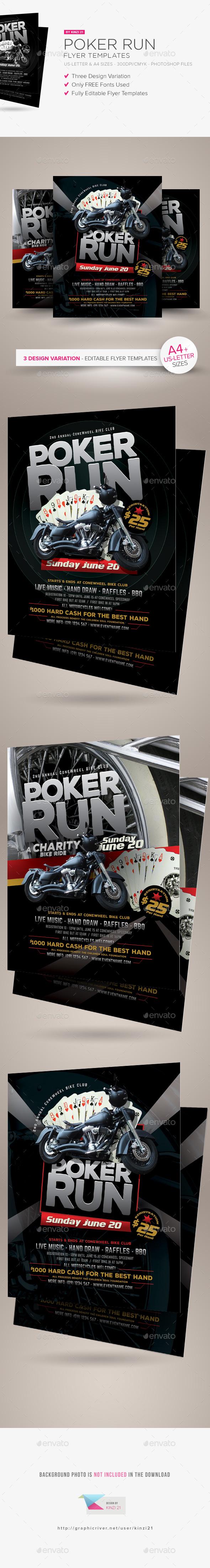 Poker Run Flyer Templates