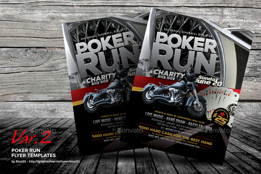 Poker Run Flyer Templates By Kinzi21 Graphicriver