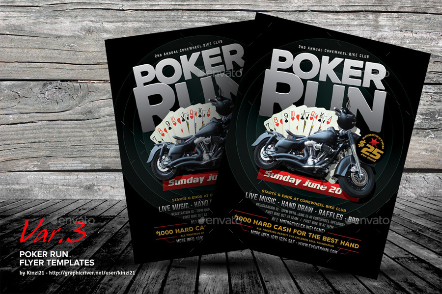 Poker Run Flyer Templates By Kinzi  Graphicriver