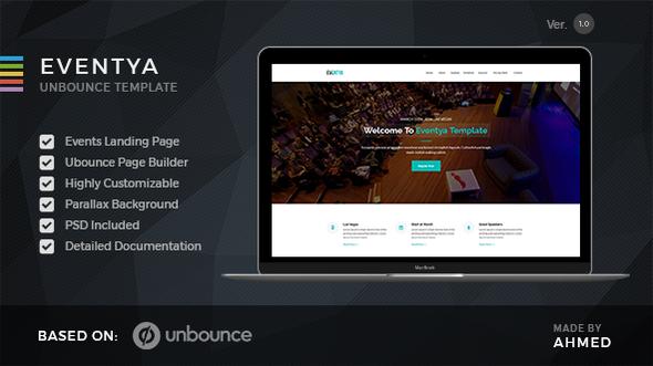 Eventya – Unbounce Landing Page