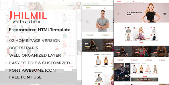 Jhilmil - eCommerce Bootstarp Template - Fashion Retail
