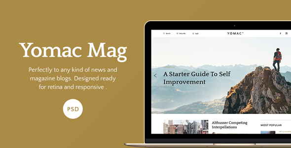 Yomac — Magazine and Blog PSD Template - PSD Templates