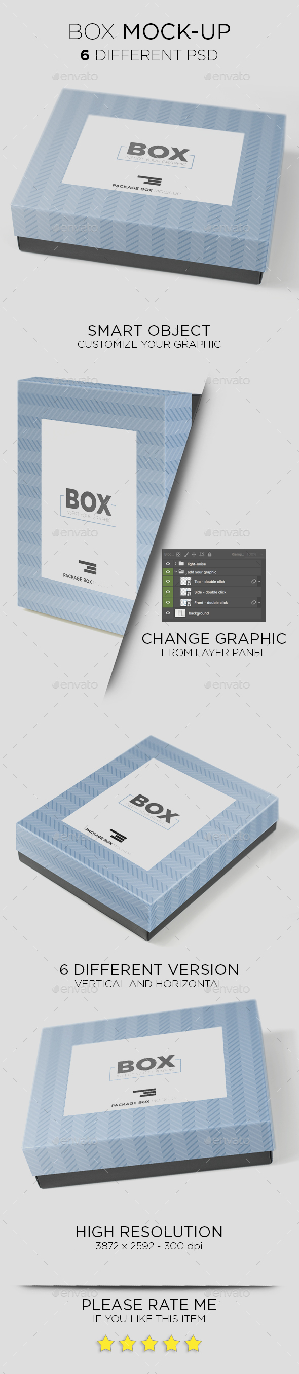 Package Box Mockup - Packaging Product Mock-Ups