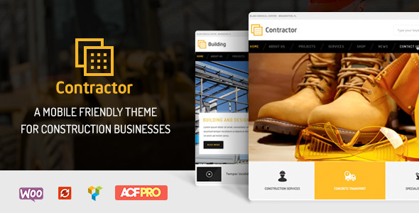 Contractor – Construction, Building Company Theme - Business Corporate