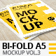Bi-Fold A5 Brochure | Leaflet Mock-up Vol.3. Close-up - GraphicRiver Item for Sale