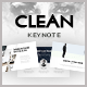 Clean Keynote Template - GraphicRiver Item for Sale