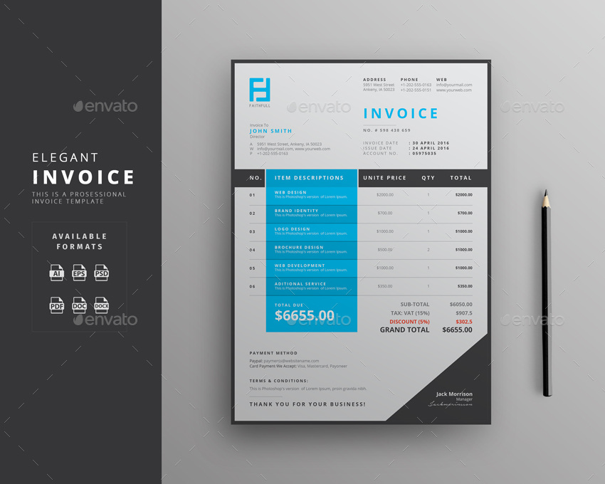 Invoice by themedevisers | GraphicRiver
