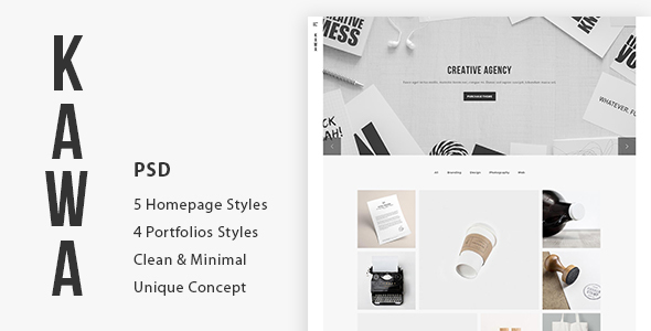 Kawa | Agency and Portfolio PSD Template